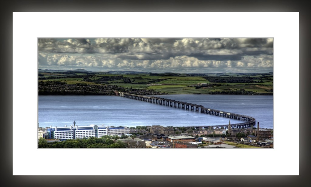 Tay Rail Bridge from the Law by Gordon Forbes
